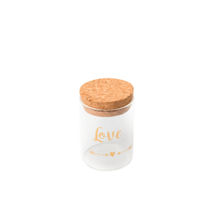Fiole En Verre Love Or 4,5 cm