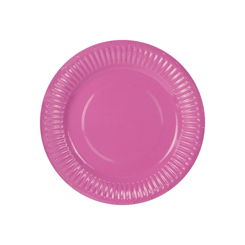Assiette Carton Rose Fuchsia x6