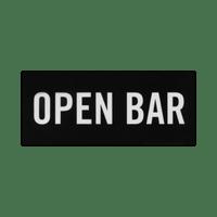 Façade Open Bar Noir PVC pour Boite Lumineuse