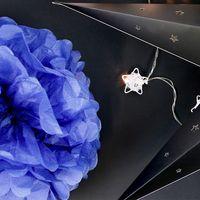 Pompons Bleu Lavande 20cm x2