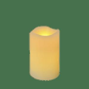 Bougie LED Ivoire 10cm Vagues