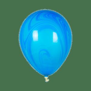 Ballon Marbré Bleu