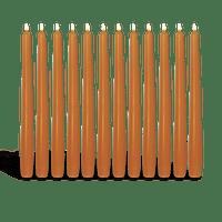 Pack de 12 chandelles Citrouille 2,3x25cm
