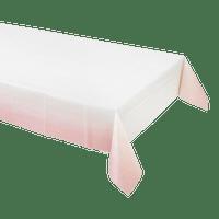 Nappe papier blanc rose pastel