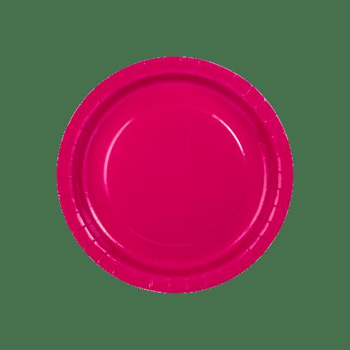 Assiette Carton Rouge x6