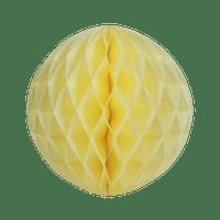 Boule chinoise alvéolée 30 cm Ivoire