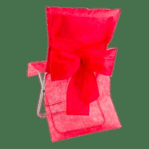 Housse de Chaise avec nœud Rouge x10