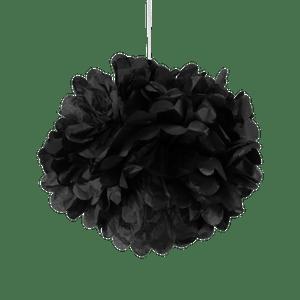 Pompons Noir 30 cm x2