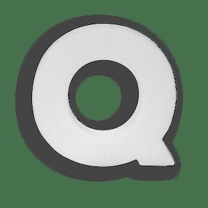 Lettre Q en Polystyrène 20cm