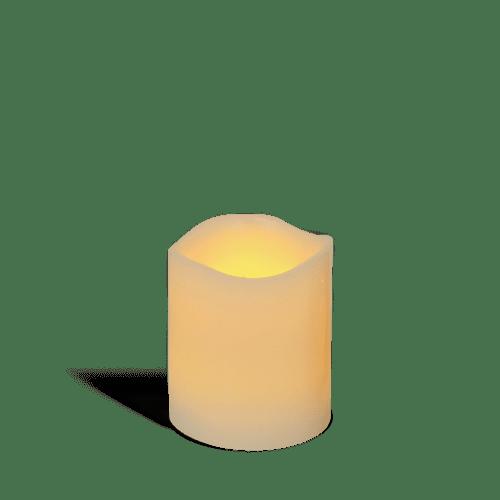 Bougie LED Ivoire 7,5cm Vagues