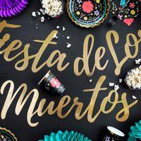 Guirlande Carton Fiesta de los muertos Or