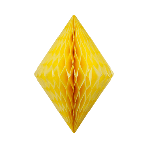 Cristal alvéolé 50 cm Jaune Pâle