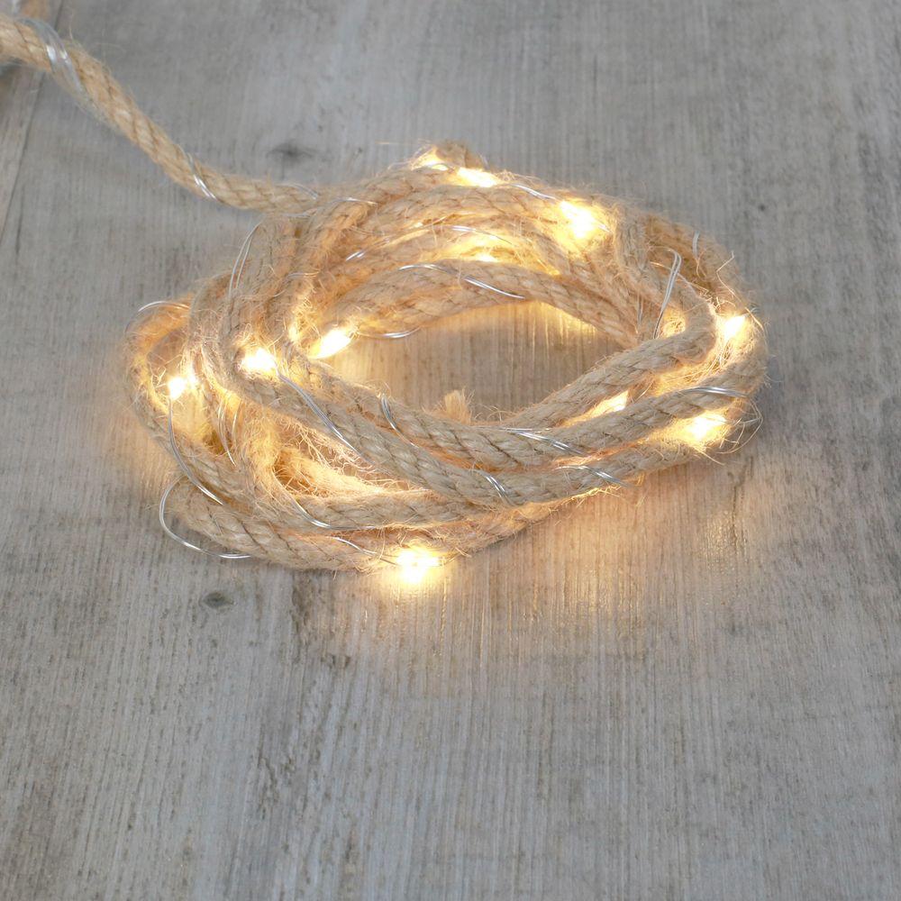 Corde Lumineuse Led Blanc Chaud