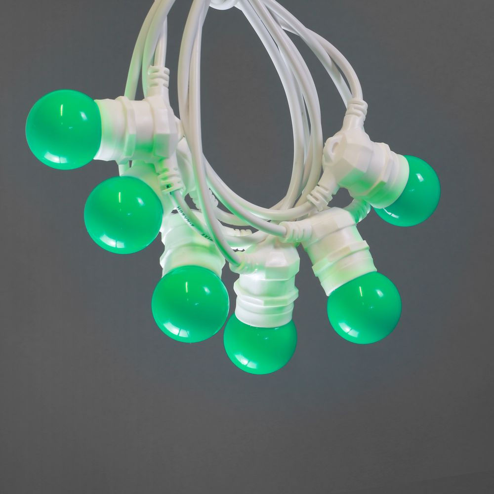 Guirlande Lumineuse Extérieur Vert 10 m Cable Blanc