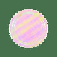 Assiette carton irisdecent x12