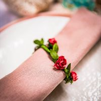 Marque Place Couronne de Roses Corail x4