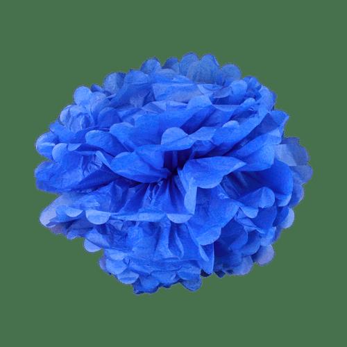Pompons Bleu Lavande 40cm x2