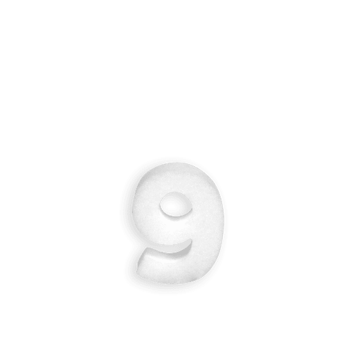 Chiffre 9 en Polystyrène 10cm
