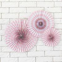 Rosace Rose Pastel x3