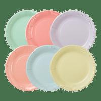 Assiette carton Pastel x12