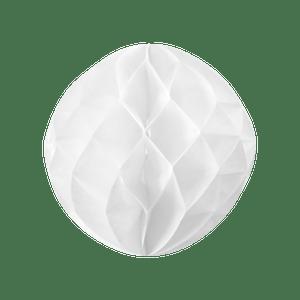 Boule chinoise alvéolée 20 cm Blanc
