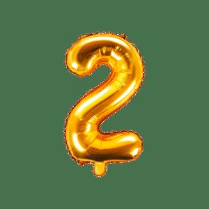 Ballon Chiffre 2 Or 35 cm