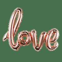 Ballon LOVE Rose Champagne