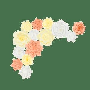 Kit Fleurs En Papier Spring x14