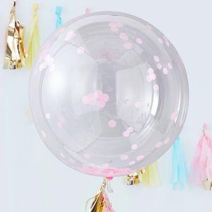 Ballons Géant Confetti Rose x3