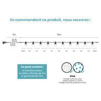 Guirlande Guinguette 10M Transparente Avec Prise