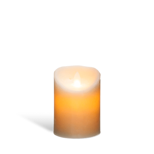 Bougie Led Flamme Vacillante Blanc 10 cm