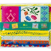 Guirlande papier fanions rectangulaires multicolore cuban fiesta
