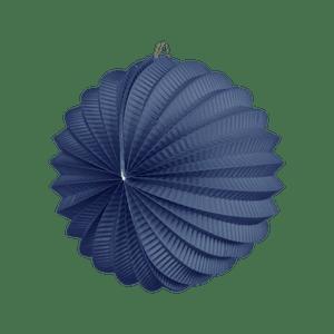 Lampion rond 20cm Bleu Roi