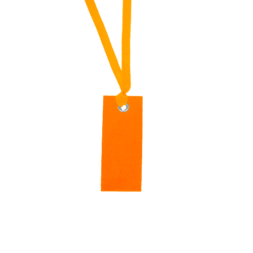 Marque-place + Ruban Orange x12