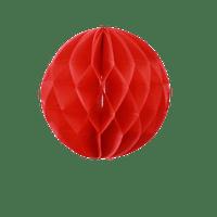Deco Soirée Mariage & Fête, Anniversaire, Fête Boule Chinoise Alvéolée 20 Cm Rouge (Lot De 5 Pièces)