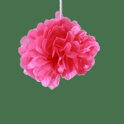 Deco Pour Mariage & Fête Pompons Fuchsia 20Cm (Lot De 10 Pièces)