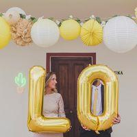 Ballon Lettre W Or 90 cm