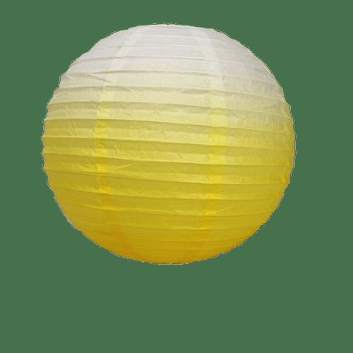 Déco Mariage & Fête Boule Papier 40Cm Dégradé Jaune (Lot De 3 Pièces)