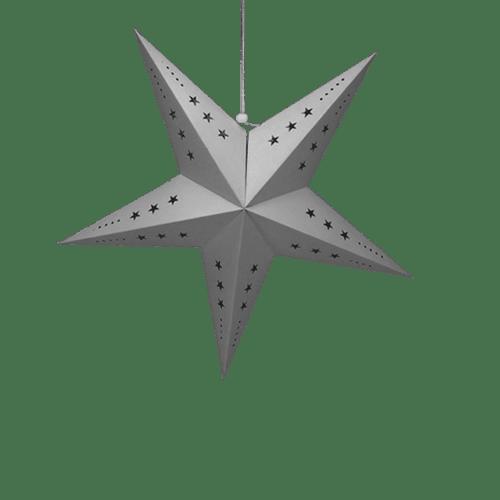 Décoration Pour Soirée Mariage & Fête, Anniversaire, Fête Etoile Déco Grise 60Cm (Lot De 3 Pièces)