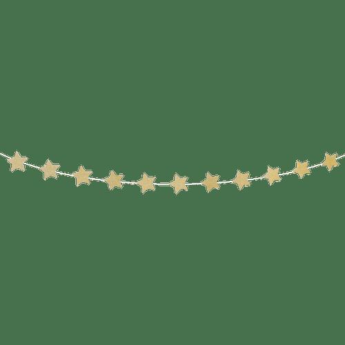 Guirlande Papier Étoiles Or