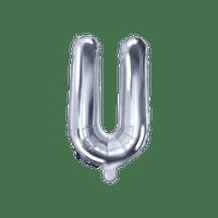 Ballon Lettre U Argent 35 cm
