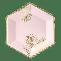 Assiette Palmier Rose