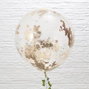 Ballon Confettis Rose Gold 90 cm x3