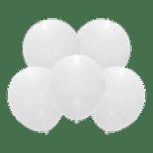 Ballon Led Latex Blanc x5