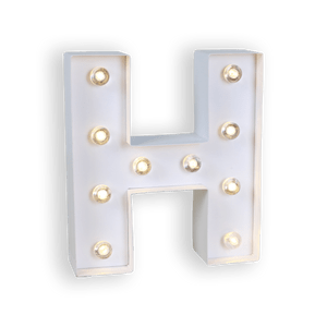 Lettre Lumineuse H