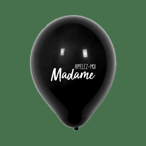 """Ballon Mariage """"Appelez-moi Madame"""" Noir"""