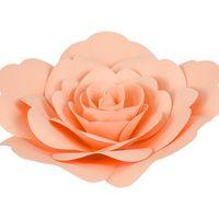 Fleur En Papier Rose Pêche 20 cm