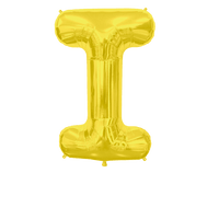 Ballon Lettre I Or 90 cm