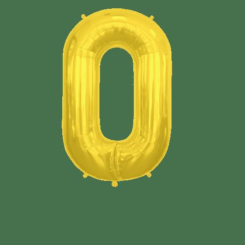 Ballon Lettre O Or 90 cm