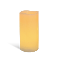 Bougie LED Ivoire 15cm Vagues